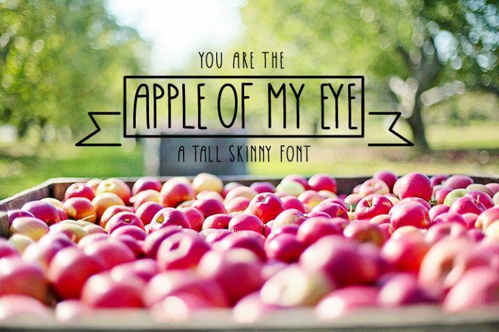 Apple Of My Eye Skinny Tall Font