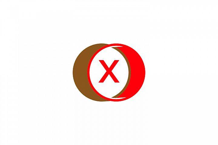 x letter circle logo