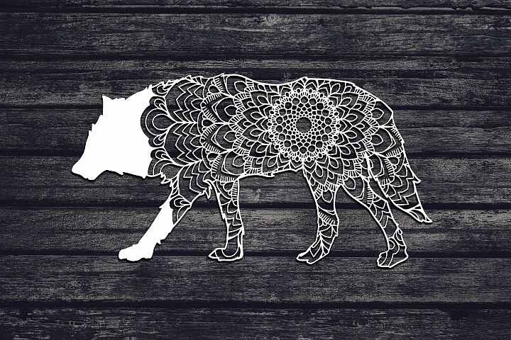 Mandala Wolf Svg, Wolf Svg, Mandala Svg, Zentangle Svg, Boho