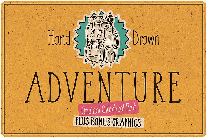Adventure Typeface plus bonus graphics