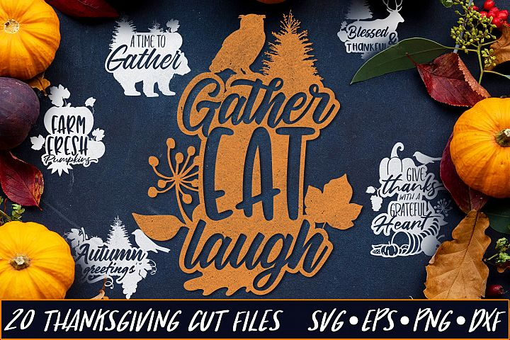 Thanksgiving SVG Bundle | Thanksgiving & Autumn SVG Quotes