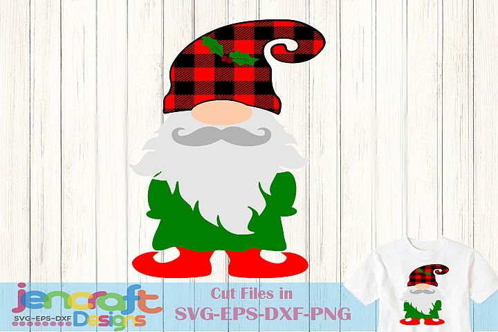 Christmas SVG - Plaid Nordic Gnome SVG Elf Dwarf SVG