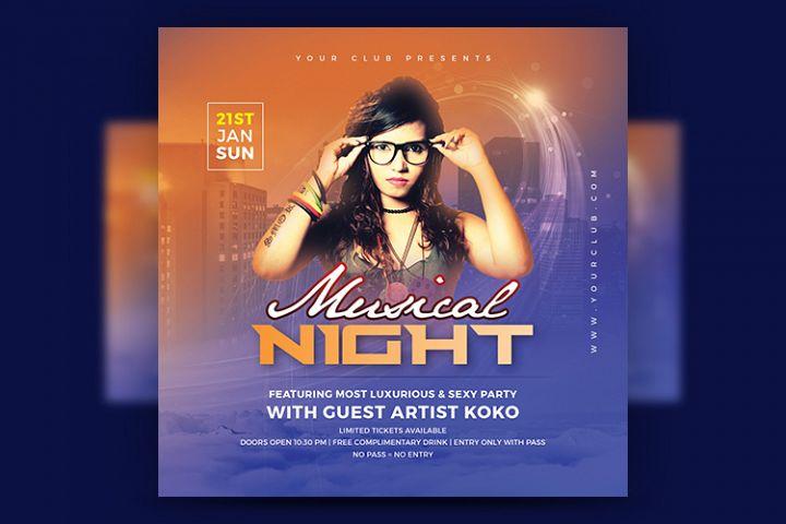 Musical Night Flyer