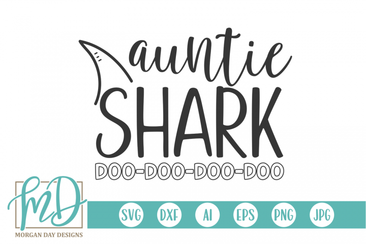 Auntie Shark SVG