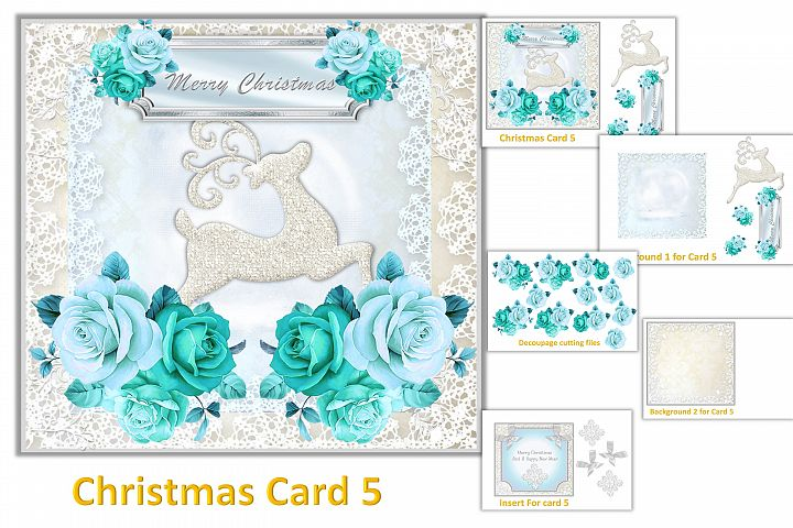 Christmas Card Making Kit with free clipart example 5