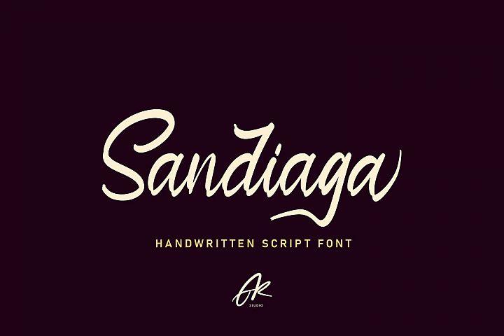 Sandiaga | Modern Script Font