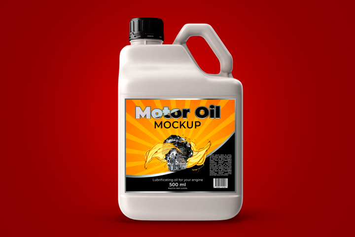 Bottle Motor Oil Mockup