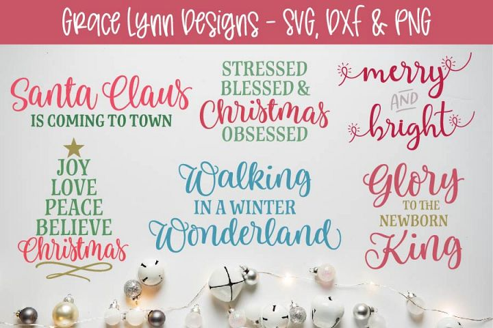 Christmas Cut File Bundle - SVG, DXF & PNG