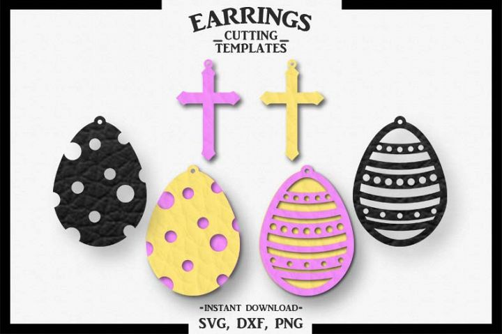 Easter Earrings, Silhouette, Cricut, Cut File, SVG DXF PNG
