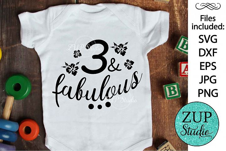 Three and fabulous Digital Cutting files file 130