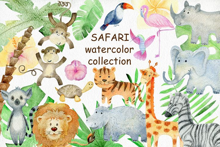 Safari watercolor collection.