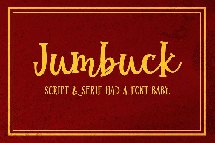 Jumbuck - a serif script font!