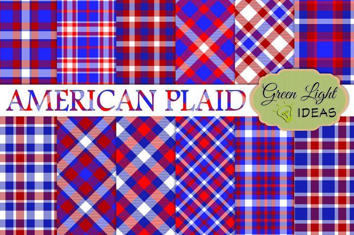 American Plaid Digital Papers