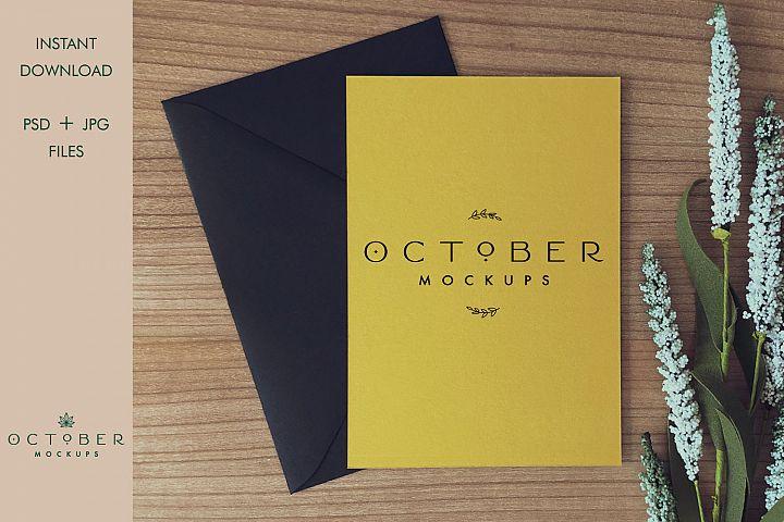 Mockup card & envelope   Invitation mockup   Greeting card