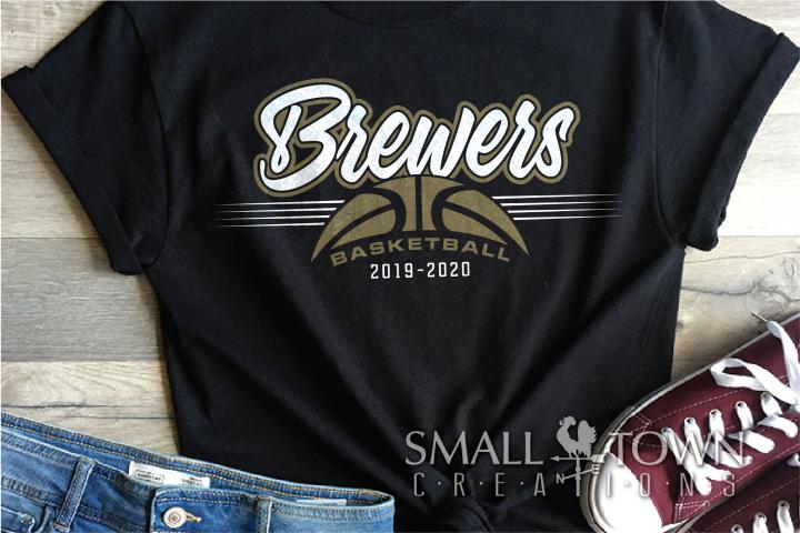 Brewer, Basketball, Sport, Team, Logo, PRINT, CUT, DESIGN