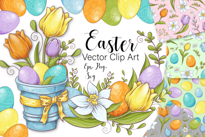 Easter vector clip art