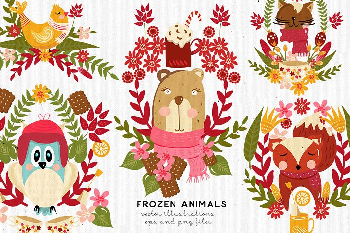Frozen Animals Vectors