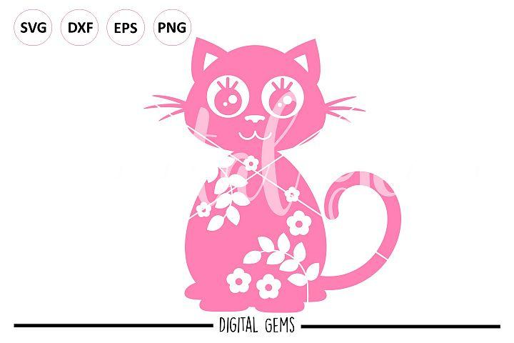 Cat SVG EPS DXF PNG file