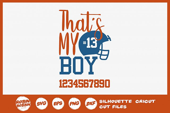 Football SVG - Thats My Boy Personalized SVG