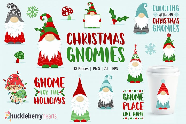 Christmas Gnomies Clipart