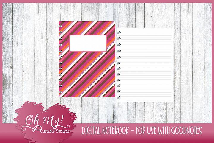 Sweet N Sassy Diagonal Digital Notebook for iPad Goodnotes