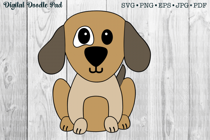 Puppy Dog by Digital Doodle Pad