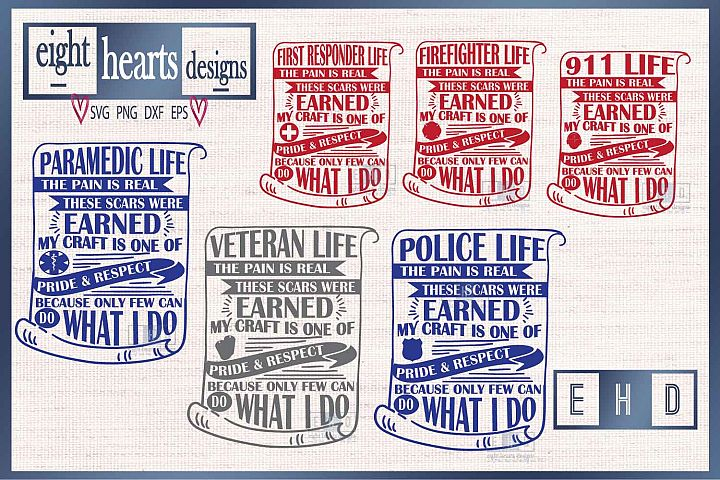 EMS Life - Several Variations Collection - SVG PNG DXF