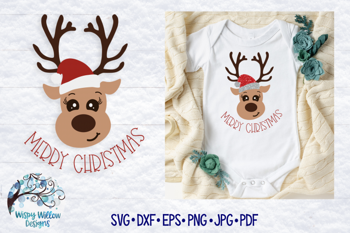Christmas Reindeer SVG | Merry Christmas SVG Cut File