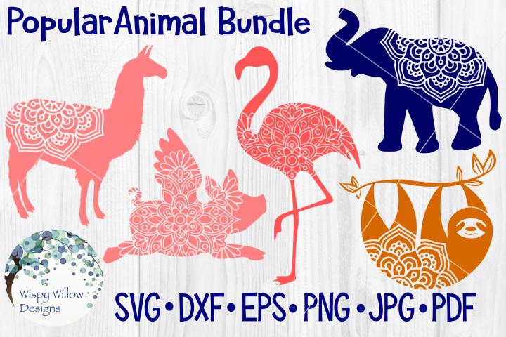Popular Animal Bundle, Sloth, Elephant, Flamingo, Llama, Pig
