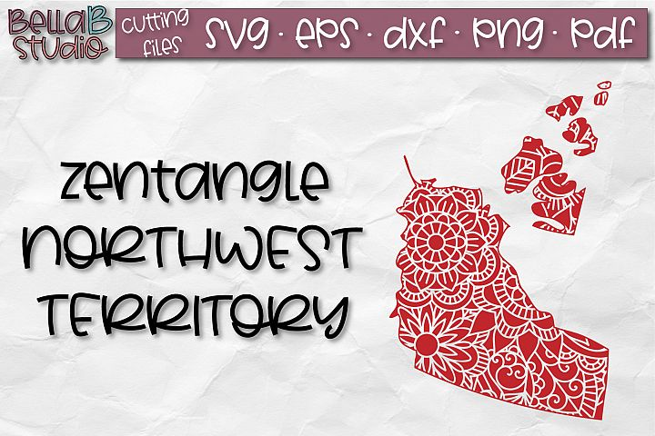 Zentangle SVG, Northwest Territory SVG, Canada SVG, Canadian