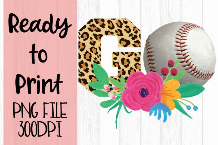 Baseball Go Leopard Ready to Print