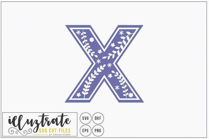 Letter X SVG Alphabet - DXF cut files - Vector Clipart