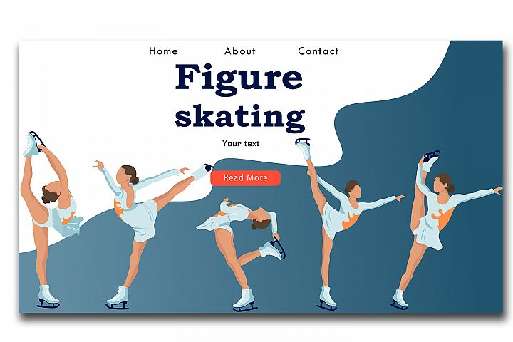 Web site template Figure skating