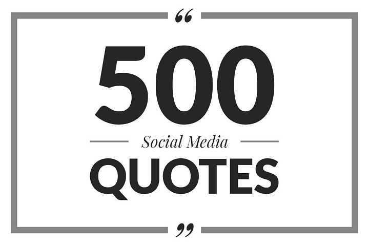 500 Social Media Quotes