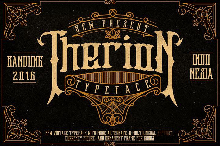 Therion Typeface + Ornament Bonus