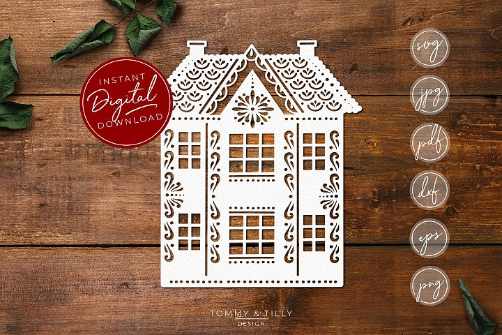 Gingerbread House - SVG EPS DXF PNG PDF JPG