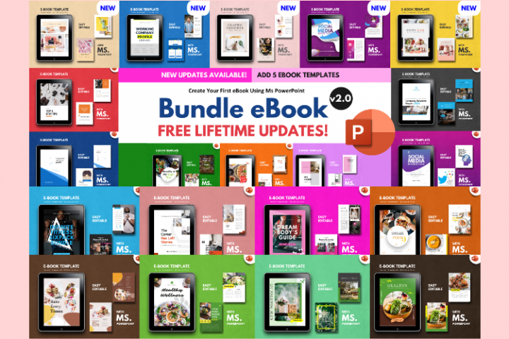 20 eBook Bundle v2.0 Template Editable Using Ms Powerpoint