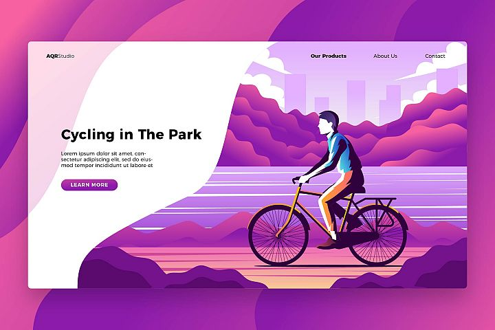 Cycling - Banner & Landing Page