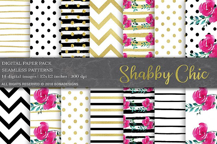 Wedding Digital Paper, Invitation Papers,Shabby Chic Papers