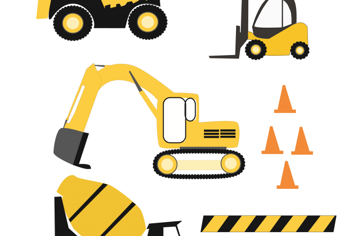 Construction Trucks SVG files