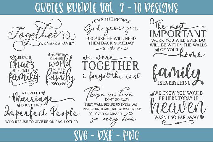 Quotes Bundle Vol. 2 - 10 SVG Designs