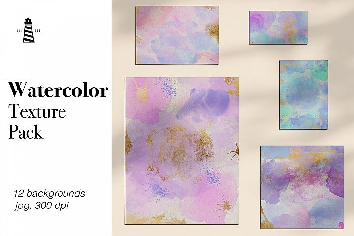 Watercolor Splatter Backgrounds