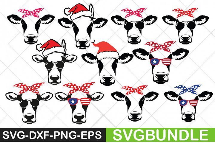 Heifer Cow SVG Bundle|Cow SVG|Farm SVG