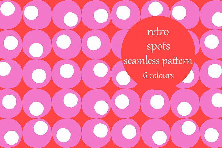 Retro Random Spots Block Pattern