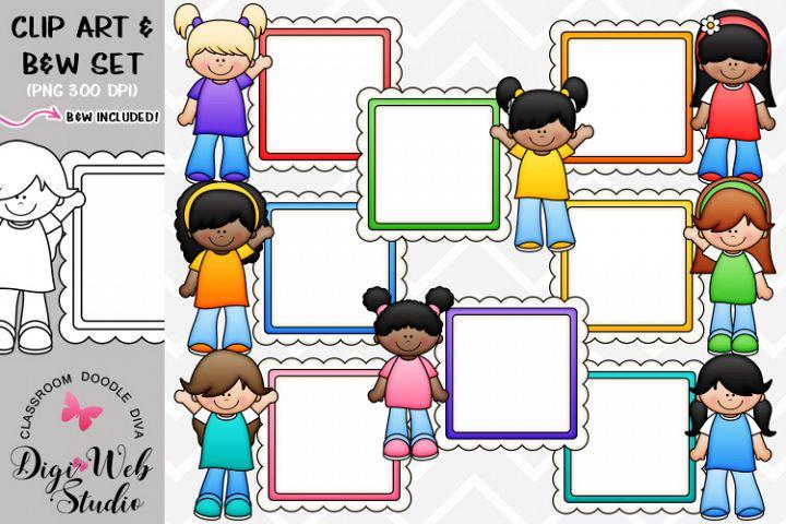 Clip Art / Illustrations - Message Board Girls