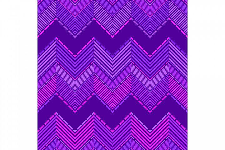 Mosaic of zigzag. Set of 10 seamless patterns.