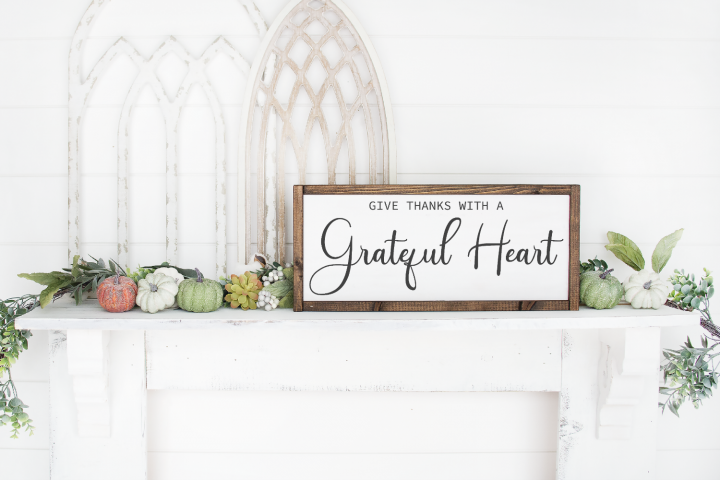 Thanksgiving - Fall - Give Thanks With A Grateful Heart SVG