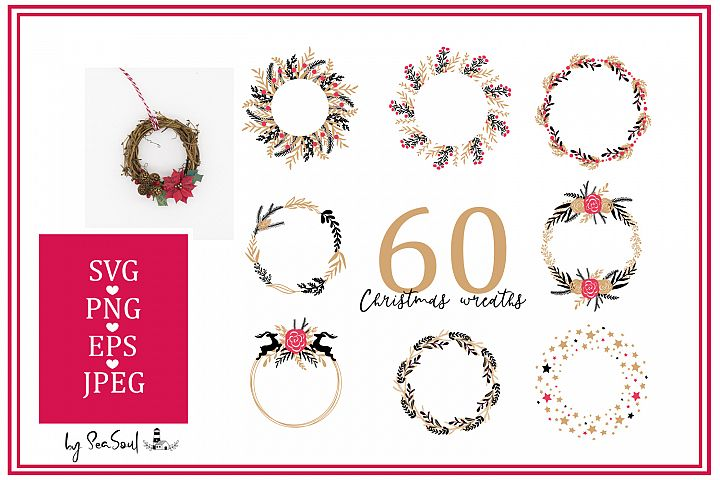 60 Christmas wreaths