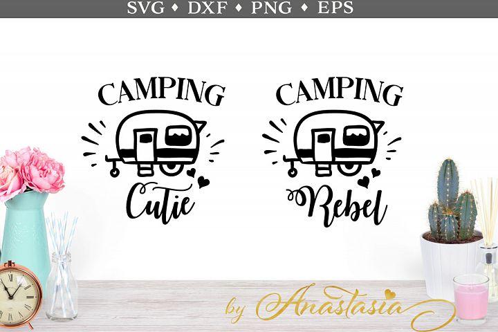 Camping Cutie & Camping Rebel SVG cut file