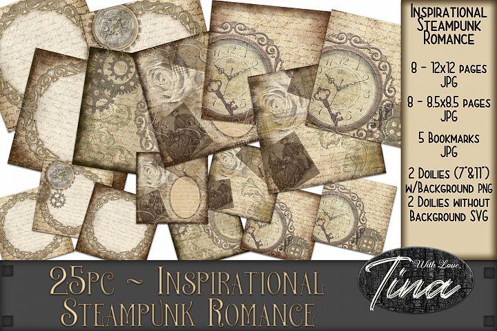 Inspirational Steampunk Romance Clocks Roses Bookmarks 25pc